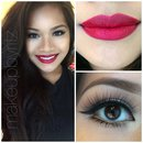 Winged eye red lip