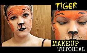 Tiger Halloween Makeup Tutorial! 🐯