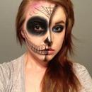 Half skeleton/Day of the dead
