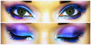 This is a look a did when I wanted to do something fun and colorful for Halloween! :)