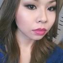 Brown Smokey eyes-berry lips
