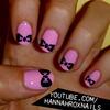 Cute Bow Nail Art