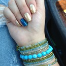 Bright Blue And Gold