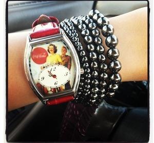 With bead bracelets!