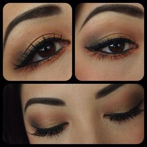simple eye makeup for work.