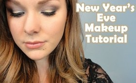 New Years Eve Makeup Tutorial - Silver and Gold