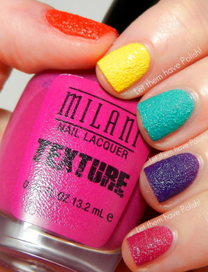 Skittles with the new Milani Textured Polishes