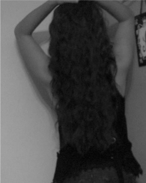 What my hair looked like before I cut it, I miss it! Come on hair, GROW!