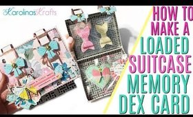 How to Make a Loaded Suitcase Memory Dex Card & free Silhouette Cutting File