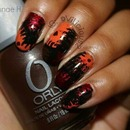 Busy Girl Nails Fall Nail Art Challenge - Dark Brown