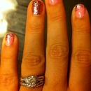 pink sparkle nails