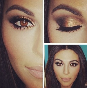 Gorgeous makeup ideas for women with hazel/brown eyes.