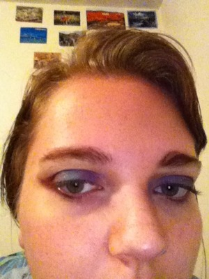 I used this photo to show the separation of the purple, blue, and maroon. Sorry for the low light! :/