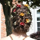 Prom Braid with Flowers