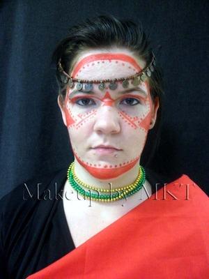 tribal makeup Maasai tribe Warrior face paint