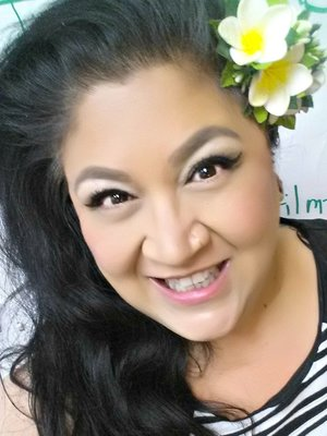 """Same products as other photo...this is my """"go to"""" spot for selfies in my office - behind the door, opposite of all the office lighting! Great spot -no big shadows and gives a healthy glow!"""