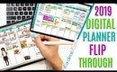 2019 Planner Flip Through, Planner Flip Through 2019, Weekly Digital Planning, Horizontal Digital
