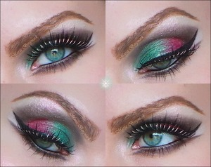 More about this look and tutorial can be found in my blog:  http://mariabergmark.wordpress.com/