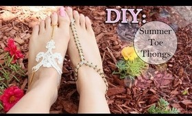 DIY: ☀ Summer Toe Thongs {Lace & Macramé}