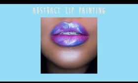 abstract lip painting with milani hypnotic lights lip topper