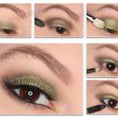 Eye makeup for blue/green/grey eyes