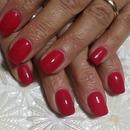 Red Nails/Nails/Neon Pink Nails