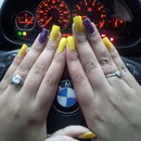 yellow...spark purple!