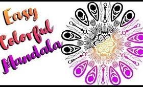 Digital Art: colorful mandala with amaziograpg app & Procreate app