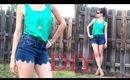 DIY Scalloped Cut Off Shorts