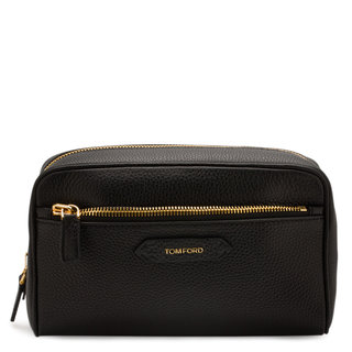 Large Leather Cosmetic Bag
