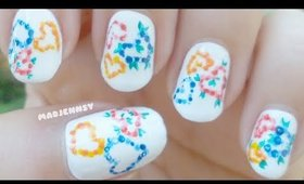Spring Dotted Hearts 💐 Nail Art 💐