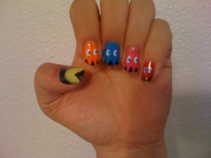 My other Pac-Man nails.