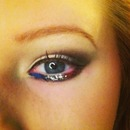 4th of July eye makeup!