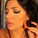 Maquillage dorée + brun
