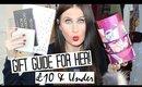 CHRISTMAS GIFT GUIDE FOR HER - £10 & UNDER! | VLOGMAS #2