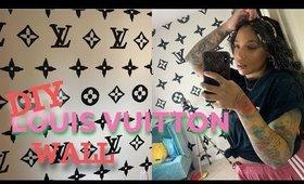 DIY Louis Vuitton Wall | $2 Home Decor