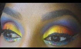 Trinidad & Tobago Carnival Makeup: Full Colour