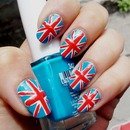 London Flag nails