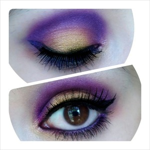 smokey purple with a hint of gols