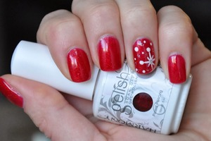 Gelish gel polish. Please visit my blog for more info.