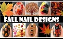 FALL NAIL ART TUTORIALS | FISHTAIL BRAIDED WEAVE FLOWER DESIGN FOR AUTUMN EASY CUTE MANICURE DIY