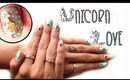 HOW TO: Unicorn Love Nail Design w/Hex nail jewelry