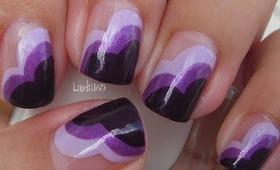 Nail Art - Wear Purple for Lupus - Decoracion de Uñas (Inspired by ChalkboardNails)