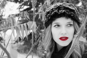 spice up a winter day with red lipstick