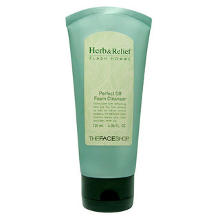 The Face Shop Herb And Relief Flash Homme Pore Perfect Foam Cleanser