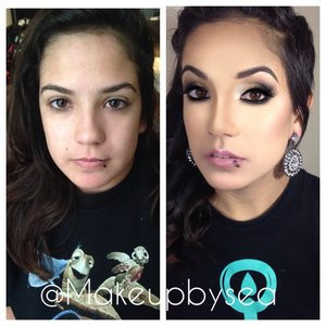 Follow me on IG @Makeupbysea and see the products I used in this look. :)