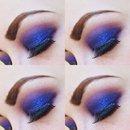 Vivid Blue Smokey eye