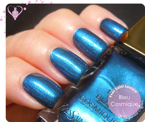 A limited edition Asia-exclusive shade for summer 2013. More swatches and review on the blog: http://www.alacqueredaffair.com/Yves-Saint-Laurent-103-Bleu-Cosmique-31087669