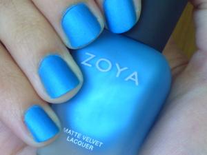 Zoya in the colour Phoebe, base for Konad design. Photo taken in sunlight.