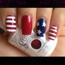 #fourth #of #july #nail #design #red #white #blue #stars #glitter #stripes #love #flag
